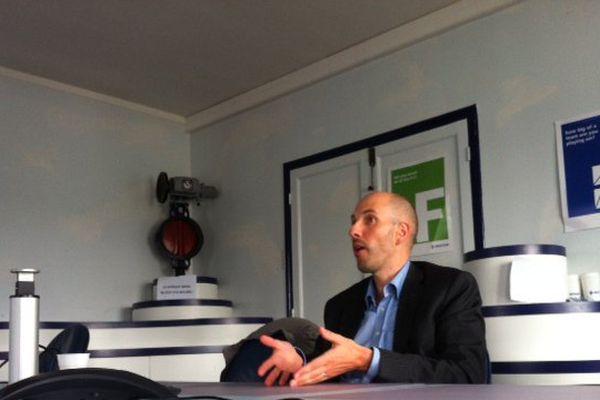Bart Gruyaert, le PDG d'Altifort à Ham dans la Somme