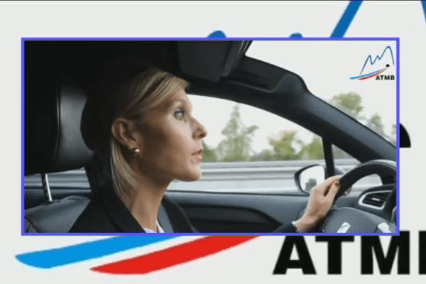 La députée LR Virginie Duby-Muller sur l'autoroute