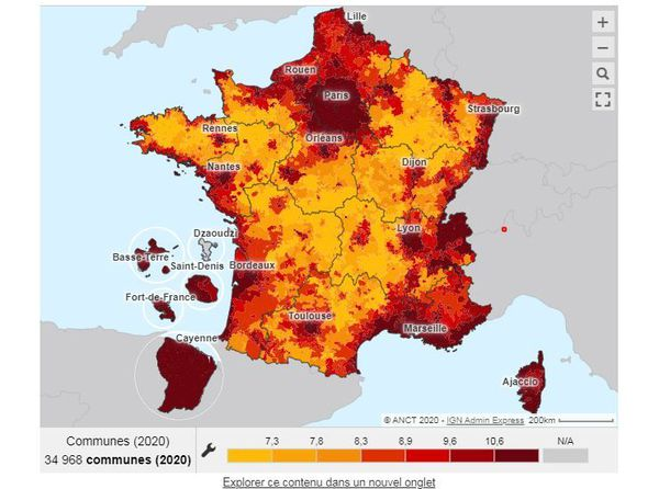 La Corse, fait partie des régions où ils sont les plus élevés, même dans le rural.