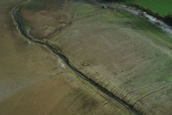 Le Doubs à proximité de la commune de Villers-le-lac dans le Haut-Doubs, mercredi 12 septembre