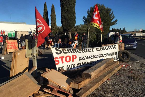 Les salariés de l'entreprise Schneider Electric, à Lattes, ont démarré une grève le 14 janvier dernier.