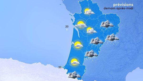 Le temps va commencer à s'améliorer à partir de jeudi et on peut espérer une fin de semaine plus agréable.