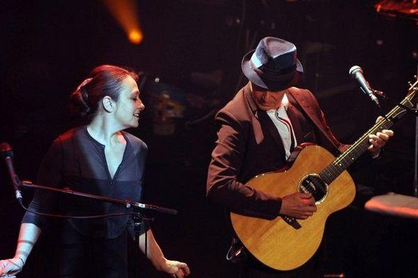 """Catherine Ringer joue avec """"Plaza Francia"""" au 38e Printemps de Bourges"""". 23 avril 2014."""