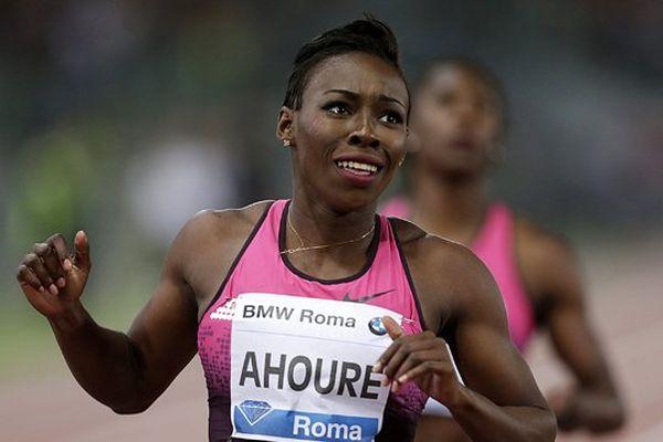 Muriel Ahouré lors de la Diamond League 2013 à Rome.