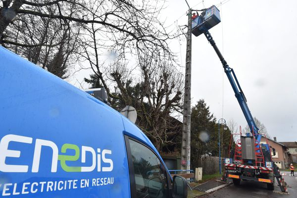 Les techniciens d'Enedis sont à pied d'oeuvre dans le Loiret. Photo d'illustration