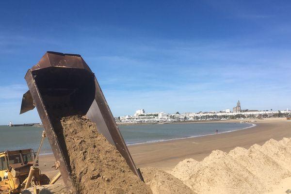 Le chantier de remise en état de la plage de la Grande Conche à Royan