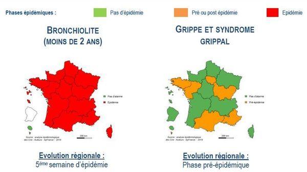 Surveillance épidémiologique en région Pays de la Loire du 23/12/2019 au 29/12/2019.