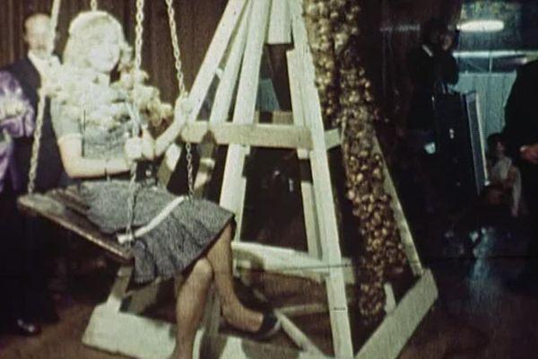 Vivez l'élection de la reine de l'ail durant les jours de la foire d'Arleux 1974