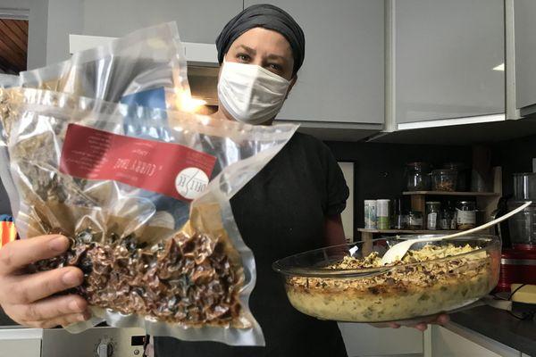 Anne-Lise Vacher a créé des plats déshydratés pour les aventuriers, depuis le plateau du Vercors.