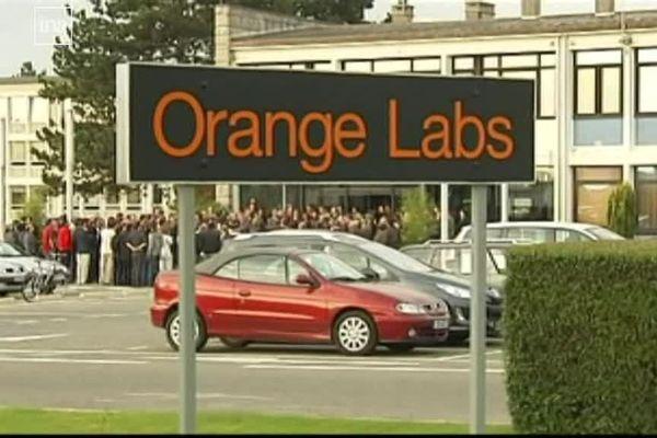 Le site de France Télécom à Lannion le jour du second suicide
