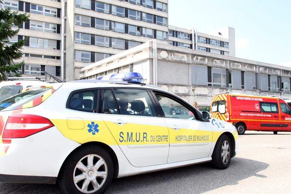L'hôpital Emile Muller à Mulhouse.