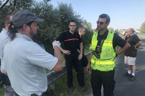 Des agents de l'Office français de la biodiversité ont procédé à des analyses de l'eau.