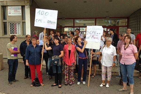 Narbonne (Aude) - grève des CPE au lycée Louise Michel - septembre 2015.