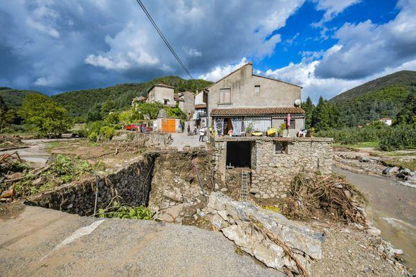 Mandagout - Dans cette communes, certains hameaux se retrouvent sans route - 23.09.20