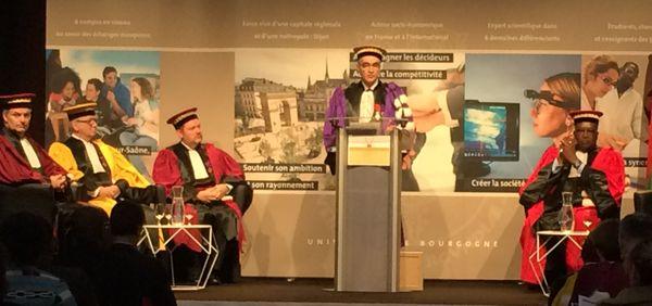 discours d'Alain Bonin pour la remise de diplôme Docteur honoris causa psdt Burkinabè