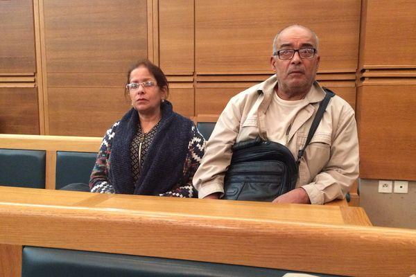 Zoulika et Mohamed Saiah les parents de Fatima sur le banc de la partie civile.