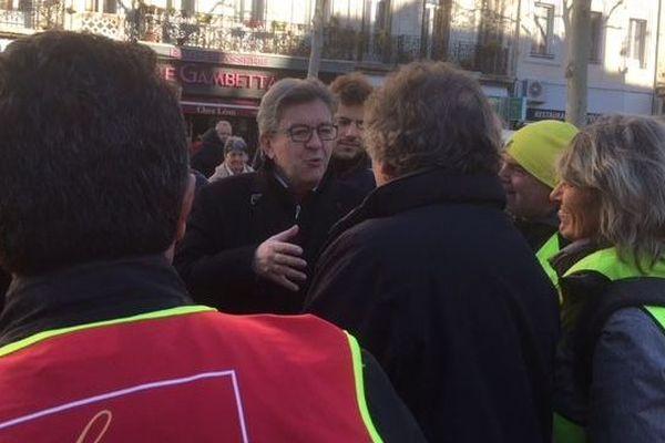 """09.01.2020 Retraites : à Marseille, Jean-Luc Mélenchon appelle toutes les professions à """"entrer dans le combat"""""""