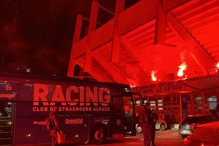 Racing Club de Strasbourg : le retour en fanfare des joueurs après la victoire contre Metz - France 3 Régions