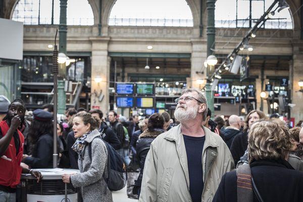 Certains voyageurs ont fait face à d'importantes perturbations gare du Nord (illustration).