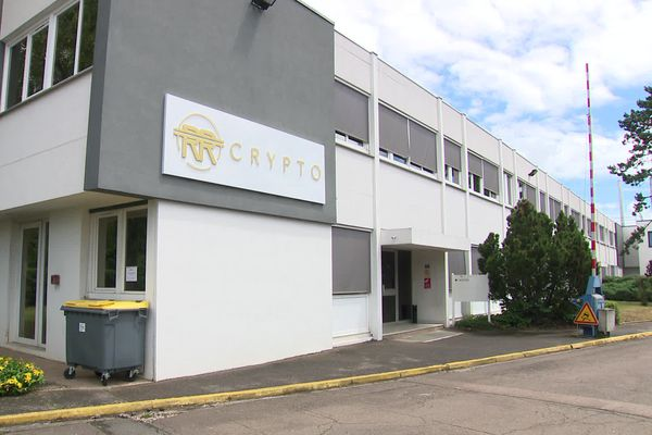 Les bureaux de RR Crypto à Longvic (Côte-d'Or), le mardi 22 juin 2021.