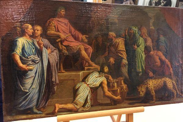 """""""Auguste recevant une ambassade d'Indiens"""" peint par Jean-Baptiste de Champaigne"""