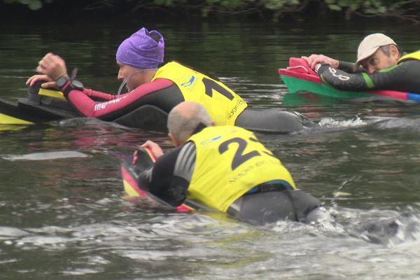 Nage en eau vive : première course longue distance sur l'Orne