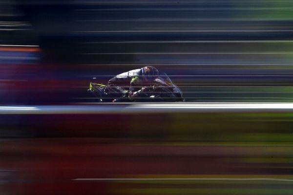 Le natif de Cannes Johann Zarco sur sa Ducati lors des essais en République tchèque.