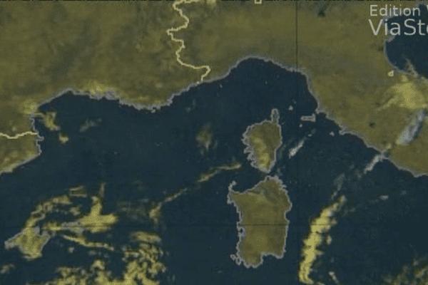 ILLUSTRATION- Image satellite du bassin méditerranéen