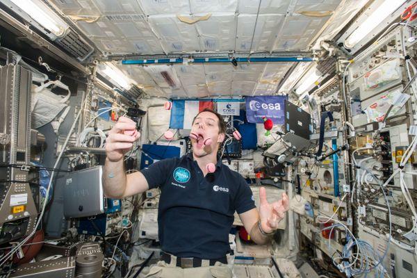 Thomas Pesquet à bord de la station spatiale internationale le 27 février 2017.