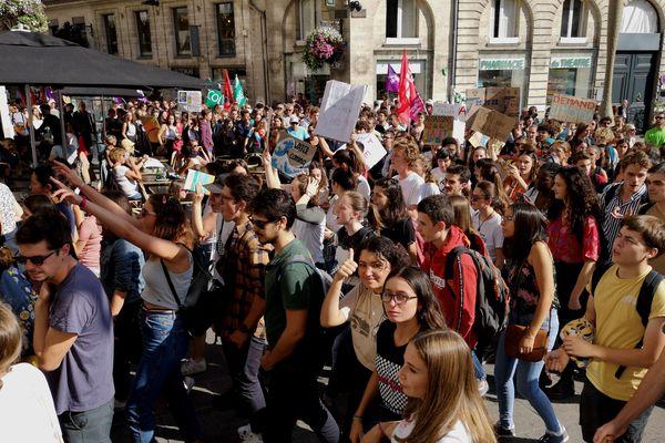 Mobilisation des jeunes pour le climat, le 20 septembre 2019, à Nantes