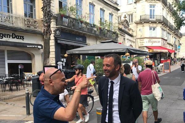 Michaël Delafosse rue de la Loge ce lundi