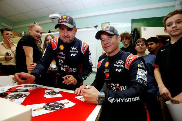 A Monaco, le 23 janvier 2020 - Sébastien Loeb et Daniel Elena en marge du Rallye Monte Carlo 2020.