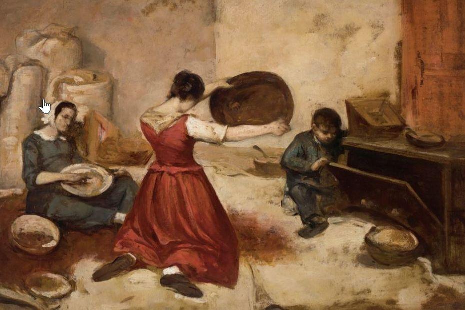 Un tableau de Gustave Courbet, vendu aux enchères plus de 410000 euros, exposé au musée d'Ornans en 2022