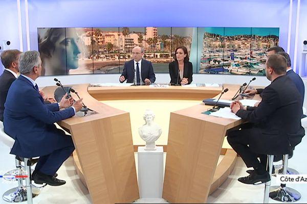 Débat sur France 3 Côte d'Azur pour les élections municipales 2020 à Vallauris-Golfe-Juan