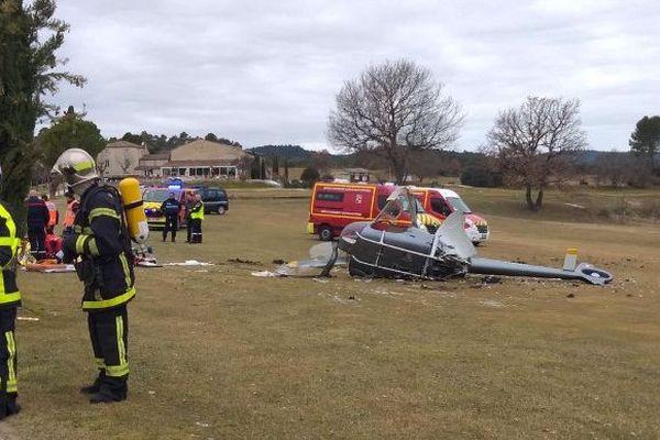 Un hélicoptère privé s'écrase près du Golf du Lubéron