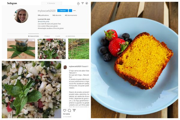 Marcia partage ses recettes sur instagram pour occuper son temps depuis le premier confinement