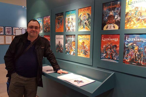 Patrick Sobral a découvert ce matin l'exposition qui lui est dédiée à Limoges.