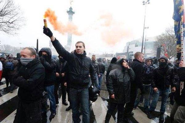 """Manifestation anti-Hollande à Paris, """"Jour de colère"""", le 26 janvier 2014."""
