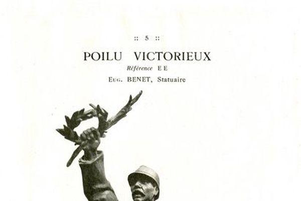 Le soldat victorieux est l'un des modèles du catalogue les plus reproduits en France.