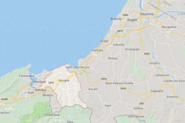 Urrugne, là où est installé un camp accueillant notamment des gilets jaunes. A une vingtaine de kilomètres de Biarritz.