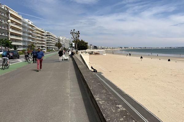 La plage de La Baule-Escoublac ce mercredi après-midi après sa réouverture.