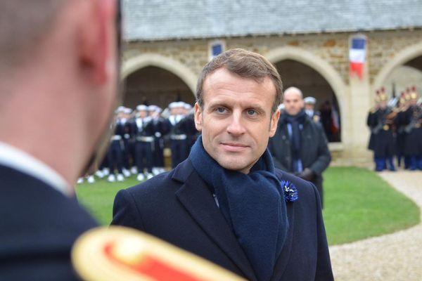 Emmanuel Macron, au mémorial de Dormans, ce jeudi 14 novembre