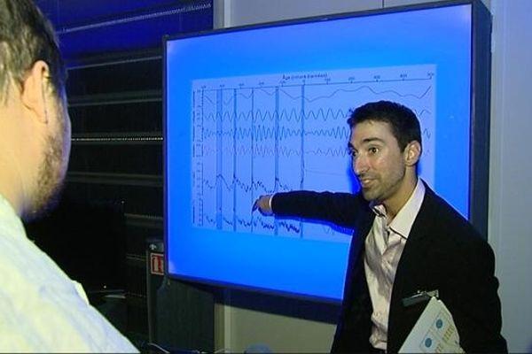 Mathieu prépare sa thèse en géologie à l'université de Bourgogne