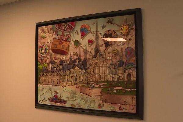 C'est en accrochant ce tableau et en voyant la réaction de l'une de ses patientes que le Docteur Stéphane Foulon eut l'idée d'installer des œuvres dans la salle d'attente de son cabinet