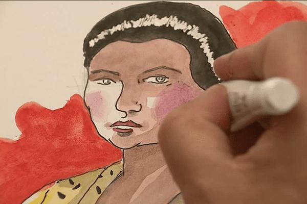 Pascal Bresson dessine un portrait de Simone Veil