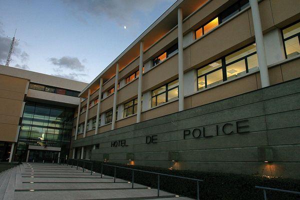 ILLUSTRATION - L'hôtel de police de Montpellier(Hérault).