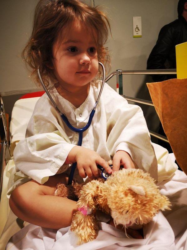 Elisabeth lors de l'une de ses 17 hospitalisations