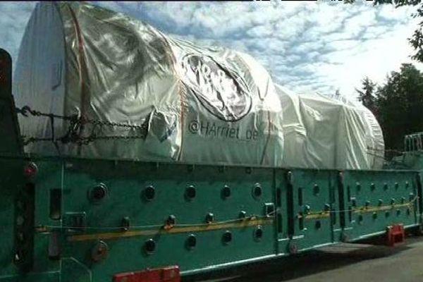 La turbine a quitté les ateliers de General Electric de Belfort ce matin