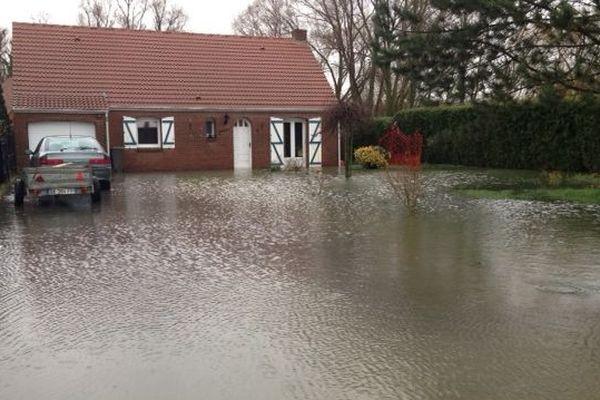 Une maison inondée à Merville 27 déc. 2012