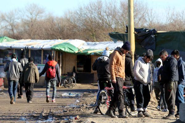 """La """"Jungle"""" de Calais fin janvier."""